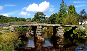 Clapper Bridge in Dartmoor NP